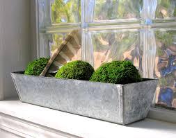 Planters Metal Flower Boxes Indoor Window Planter Galvanized Box Farmhouse Garden Rustic