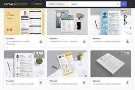 Envato Elements Includes Hundreds Of Professional Resume Templates That You Can Customize Quickly