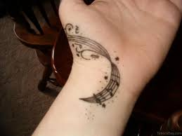 Music Tattoo Design On Wrist