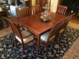 Ethan Allen American Impressions Dining Table With Eight Chairs