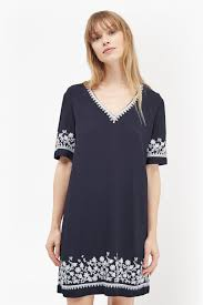 jasmine drape embroidered tunic dress collections french