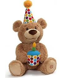 GUND Animated Happy Birthday Teddy Bear Stuffed Animal Plush 10