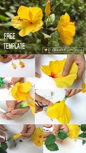 Hibiscus Paper Flower Template And Tutorial Free