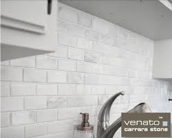 8 50sf beveled 2x4 carrara venato marble mosaic tile