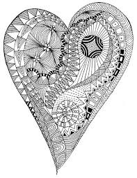 Free Coloring Page Adult Heart Zen Anti Stress