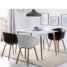 esszimmer sitzgruppe im skandi design schwarz und weiß 5 teilig