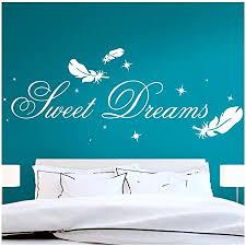 grandora wandtattoo zitat sweet dreams mit sternen federn