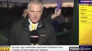 This Journalist Just Wanted To Report Some Sports News In Peace Why Is That Too Much Ask For He May Not Have Paid Attention The Vibrations