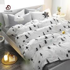Bed Comforters Parkshin Christmas Tree Art Printed Bedding Set Kids Bedspread Duvet