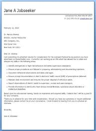 Cover Letter Example Nursing Student Instructor