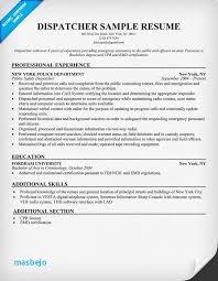 Truck Dispatcher Job Description Resume