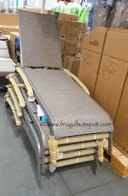 costco sale kirkland signature commercial sling chaise lounge