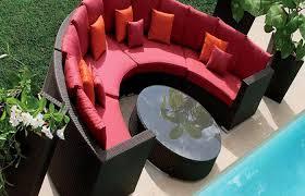 Semi Circle Patio Furniture by Guiuan Designer Outdoor Wicker Semi Circle Lounge Group