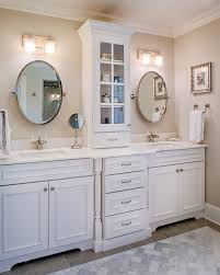 catchy double vanity with center tower and best 25 double vanity