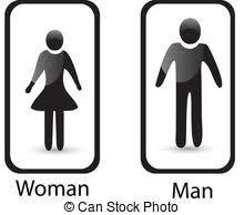 toilette femme signe symbole toilettes homme vecteurs