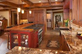 Rustic Red Kitchen Cabinets Surprising Design 4 Cabinet Ideas Intended For Decor