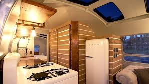 Its Similar To A Stationary Home Remodel HofArc Airstream Renovation Takes The Vessel Down Studs And Replaces Everything