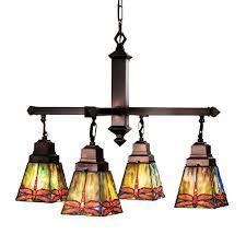 Tiffany Style Lamps Canada by Shop Meyda Tiffany Prairie Dragonfly 26 In 4 Light Mahogany Bronze