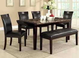 Marble Table And Chairs Dining Set With Bench Faux Top Sale