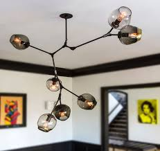 glass branching pendant chandeliers for dining room