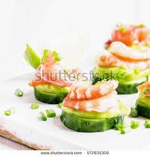 canape mousse canape cucumber avocado mousse salmon shrimp stock photo 572935309