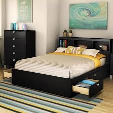 Full Size Bed Frame With Headboard — Modern Storage Twin Bed Design