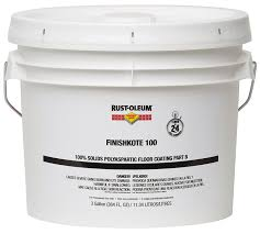 100 Solids Epoxy Floor Coating by Rust Oleum 283618 Clear Finishkote Concrete Saver 100 100 Solids