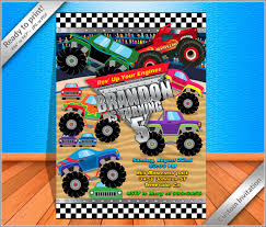 50% OFF SALE Monster Truck Invitation Monster Truck | Etsy Monster Contruck Invitation Invite Pics Of Truck Fresh Birthday Invitations Personalized Invitation Boy By Uprint Etsy Party Ideas At In A Box 50 Off Sale 2nd Svg And Printable Clipart To Make Nice 94 In Design With Frozen Elsa Anna Trucks Food Jam Supplies Monster Truck Birthday Truck Birthday Party Invites Tonys 6th Bday