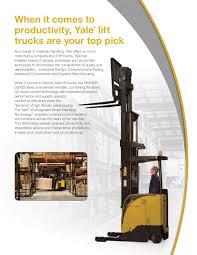 100 Yale Lift Trucks NRNDREBDB Reach Brochure Pages 1 16 Text Version