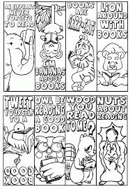 Coloring Pages Bookmarks Printable