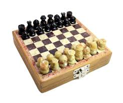 Classic Chess Inlaid Wood Board Game