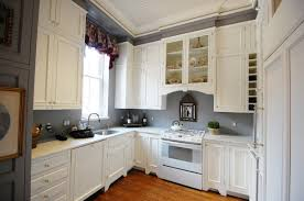 White Grey Kitchen Decoration Using Light Wall Paint Including Marble