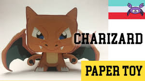 How To Make A Pokemon Charizard Paper Toy Papercraft Free Template By Becks Junkie