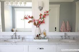 Cherry Blossom Bathroom Decor by White Master Bathroom Ready For Spring The Sunny Side Up Blog