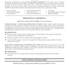 Law Enforcement Job Objective Resume Download Criminal Justice Examples Off