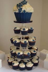 Wedding CakesCupcake Cake Royal Blue Cupcake Cakes