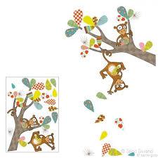 stickers jungle chambre bébé stickers colorés chambre enfant thème animaux de la jungle