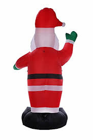amazon com homegear 8 ft christmas inflatable santa claus home