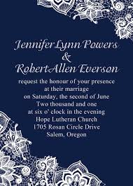 Cheap Navy Blue Lace Wedding Invites