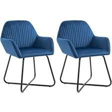 esszimmerstühle samt 2 stk blau