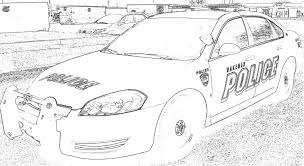 Police Car Coloring Pages Printable Page