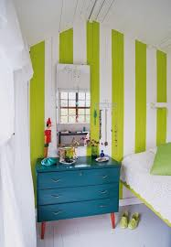 I Painted My Bedroom With Lime Green Stripes And White Just Like This 40 Years Ago Old Panelingeveryone Thought Was Crazy That Started