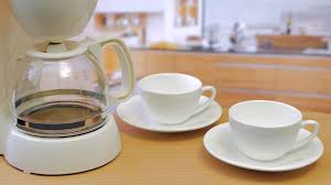 Making Coffee Morning Machine Stock Video Footage