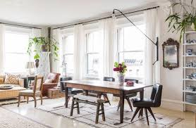 Eclectic Dining Room New York With Pattern Rich Loft In Soho
