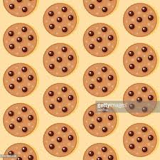 Chocolate Chip Cookie Seamless Pattern