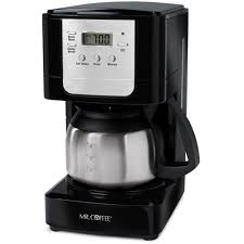 Amazon Mr Coffee JWX9 RB 5 Cup Programmable Coffeemaker Black With Stainless Steel Carafe Kitchen Dining