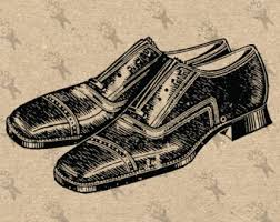 Vintage Image Mens Shoes Instant Download Digital Printable Clipart Graphic