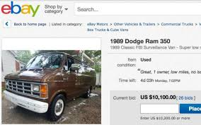 FBI Surveillance Van For Sale On Ebay In Cary | News & Observer De 317 Bsta Garbage Trucksbilderna P Pinterest Volvo 50 Best Ebay Cars For Sale In 2018 Used And Trucks On Pickup At Motors Video Dailymotion Racing Team Truck Btcc Jambox998 Flickr 1968 Chevy Hot Rod Van Build Network 2014 Freightliner Business Class M2 112 Flatbed For Motors Introduces Onestop Shop Auto Needs Dvetribe If You Want Leather Luxury Maybe This 1947 Dodge Power Wagon The Page 1969 Intertional Transtar 400 Harvester