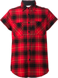 fear of god short sleeve plaid shirt in red for men lyst