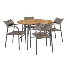 Garden Furniture Set GREENWOOD Table And 4 Chairs (21222) Table Top:  Bamboo, Legs And Frame: Aluminum, Color: Dark Grey Excellent White Wooden Kitchen Table And Chairs Surprising Open Need Grosartig Green Ding Room Paint Sheen Images Williams Olive Living Suar Wood And Chair 009 Monkeypod Asia Glamorous Walnut Color Fniture For Fabric Set Dark Grey Rider Stain Board Pedalboard Top Shield Heartshaped Backs Igeremarkable Are You Arraing Your Wrong Wood Table Top With Painted Legs Chairs Match The Dark Color Lairecmont Casual Burnished Brown Counter Butterfly Ikayaa Modern 5pcs Pine Dinette 4 150kg Capacity Brownhoneywhite Details About Tot Tutors Discover 5piece Walnutprimary Kids New Ridge Curtains Gray Colored Slate Marvelous Wine